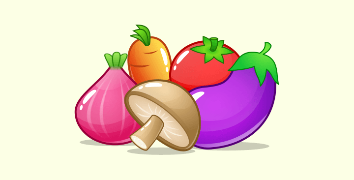 vegetables game assets